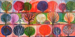 W. Iliev, Öl auf Leinwand 50x100 cm