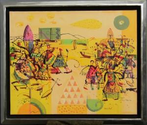 V. Christov, Mischtechnik auf Leinwand 60x70 cm