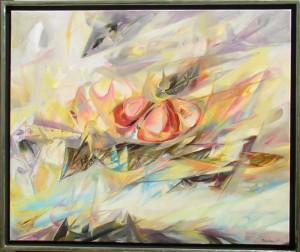"Rovshan, ""Blüten"" Öl au Leinwand 100x120 cm"